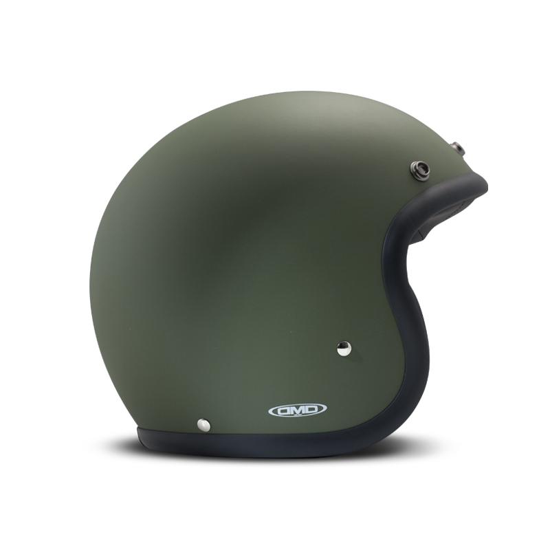 DMD Helm Vintage - Matt Green mit ECE Grün