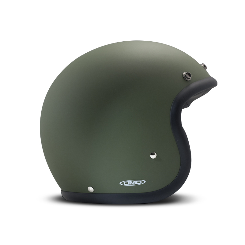 DMD Helmet Vintage - Matt Green with ECE Grün