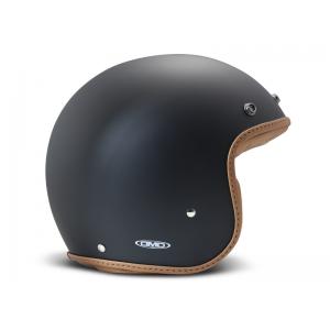 DMD Helm Leather - Pillow Matte Schwarz/Braun mit ECE