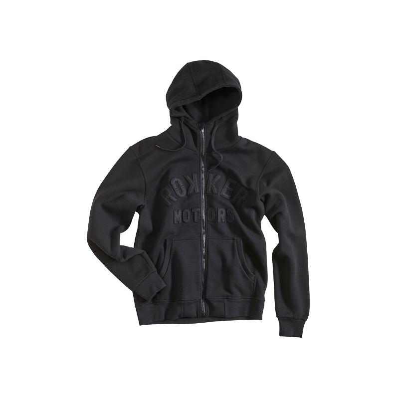 Rokker Zip Hoodie - Motors Black