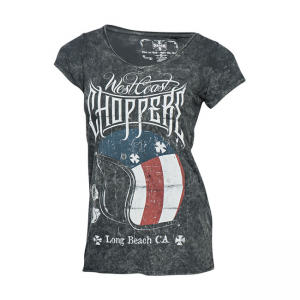 West Coast Choppers Ladies T-Shirt - Helmet Schwarz