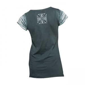 West Coast Choppers Ladies T-Shirt - Lock Up Blau