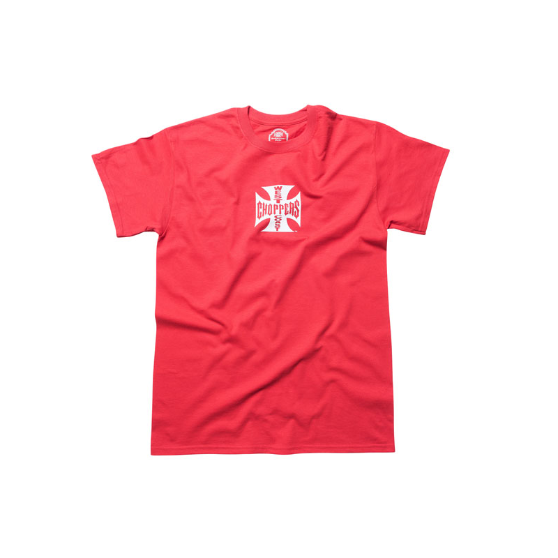 West Coast Choppers T-Shirt - Original Cross Rot Weiß
