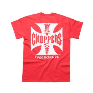 West Coast Choppers T-Shirt - Original Cross Red White