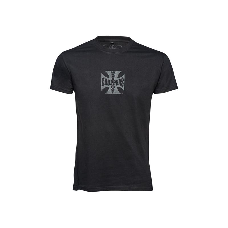 West Coast Choppers T-Shirt - Maltese Cross Schwarz