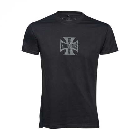 West Coast Choppers T-Shirt - Maltese Cross Black