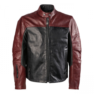 Roland Sands Leather Jacket - Ronin Oxblood/Black