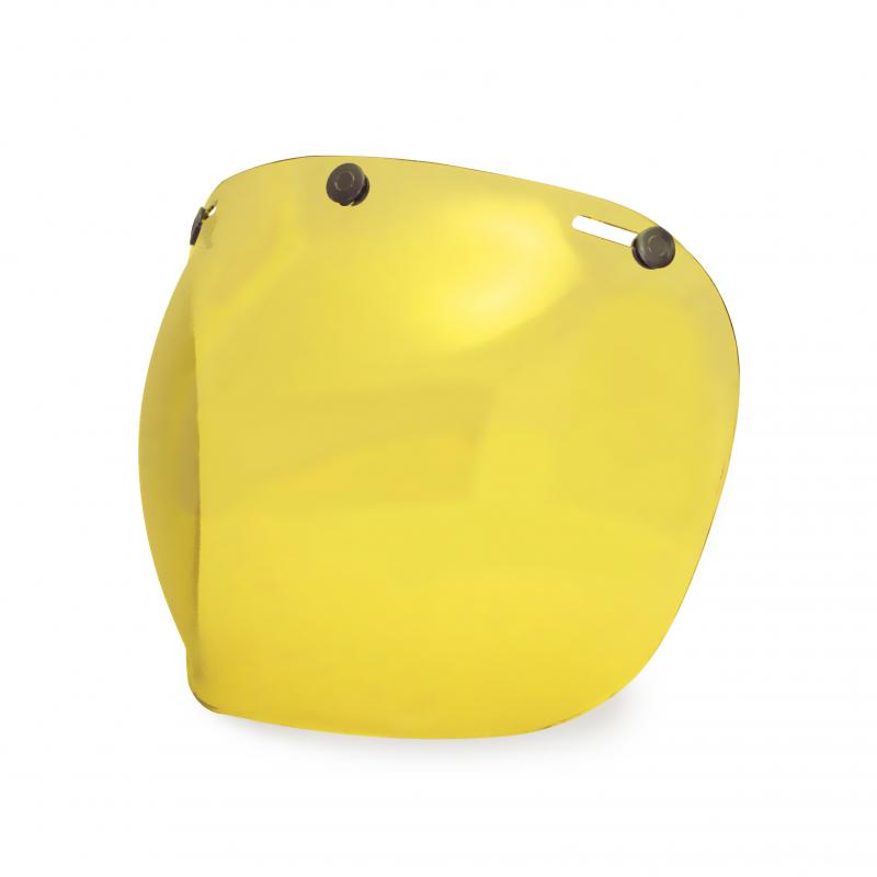 Hedon Bubble Visor - Amber Steel
