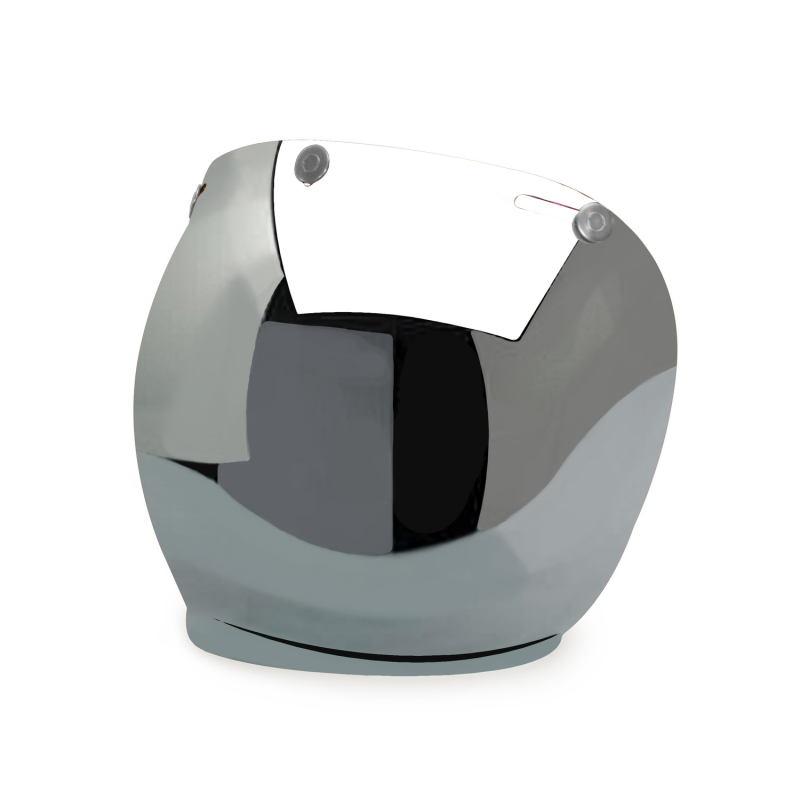 Hedon Bubble Visor - Mirror Steel