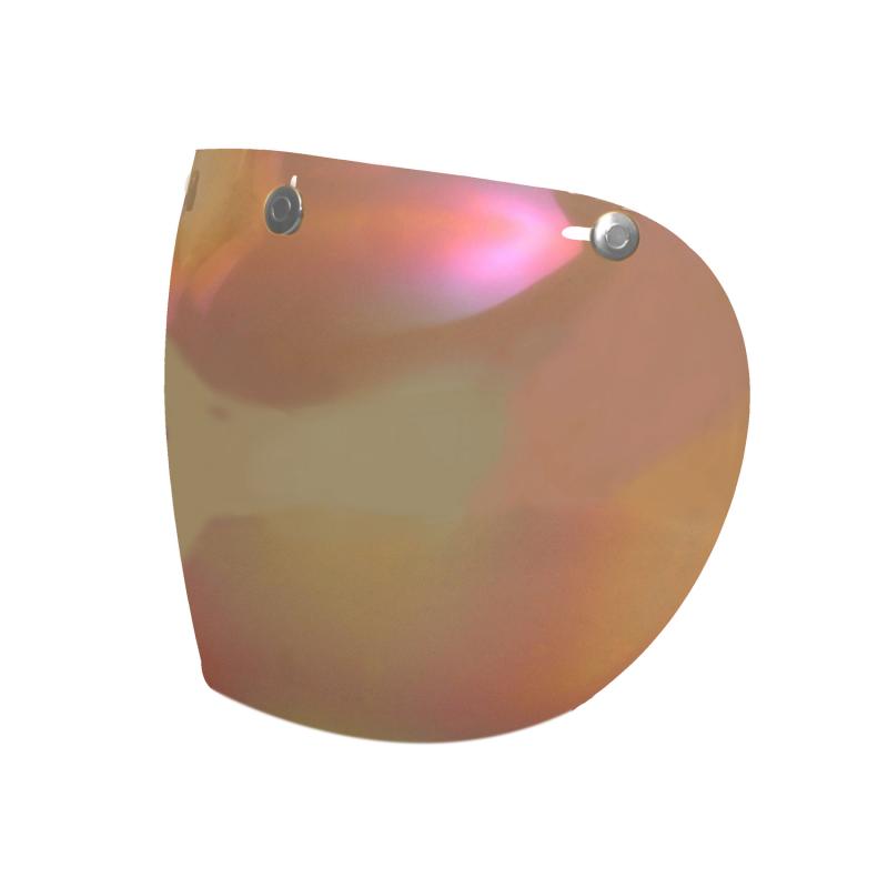 Hedon Bubble Visier - Rainbow Steel