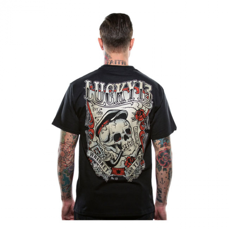 Lucky-13 T-Shirt - Whiskey And Tears