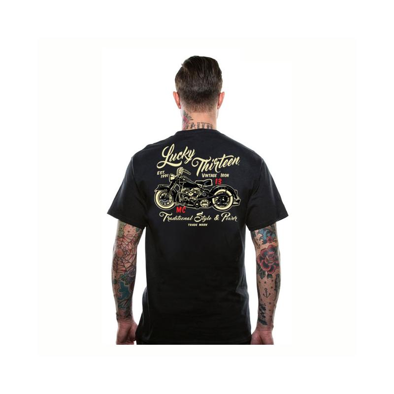 Lucky-13 T-Shirt - Vintage Iron
