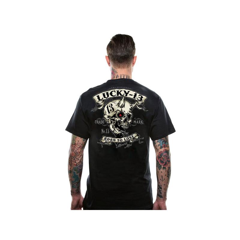 Lucky-13 T-Shirt - Evil Skull