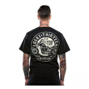 Lucky-13 T-Shirt - Black Sin