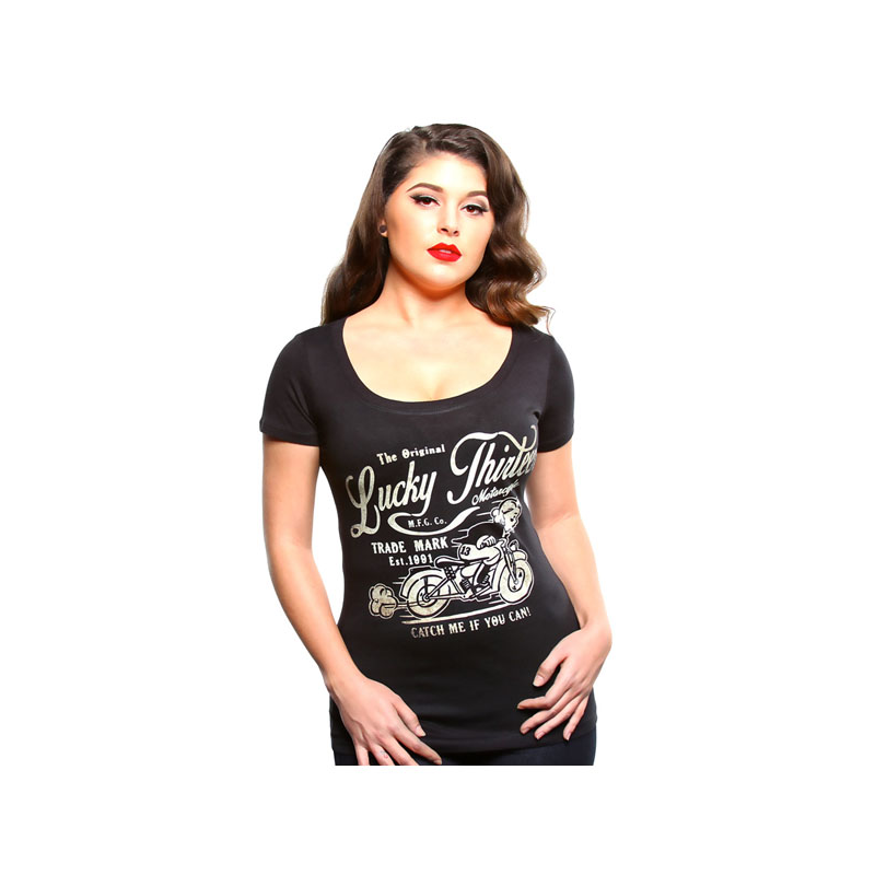 Lucky-13 Ladies T-Shirt - Catch Me