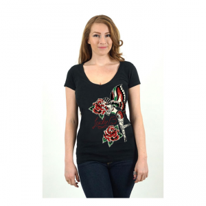 Lucky-13 Ladies T-Shirt - Rose Fairy