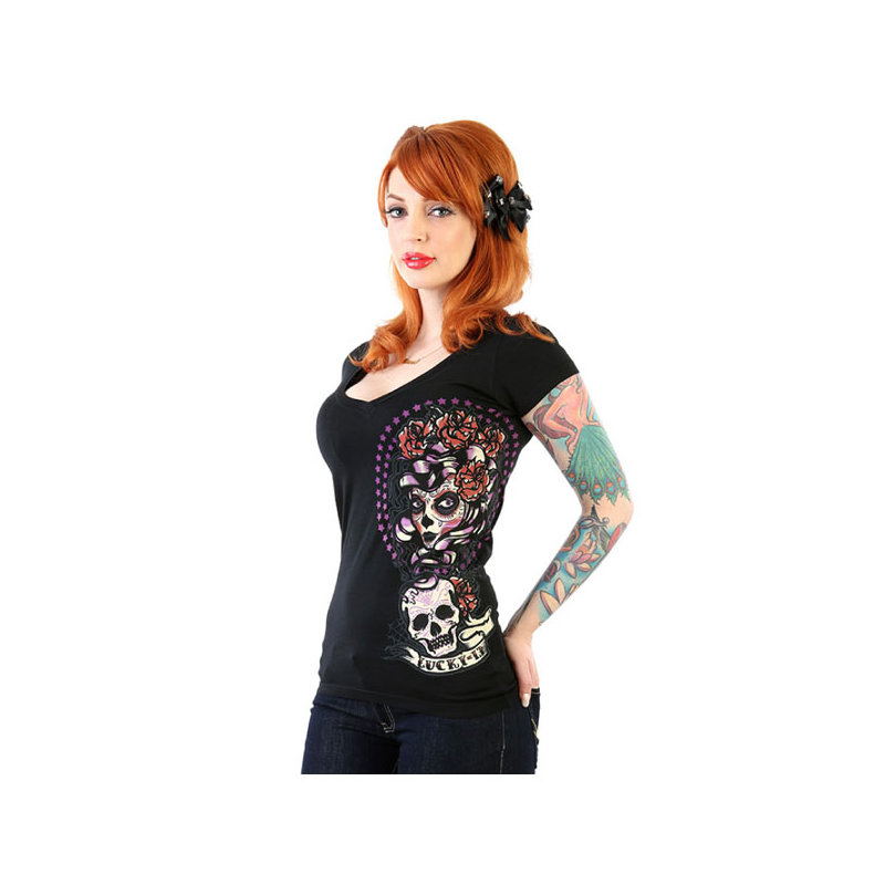 Lucky-13 Ladies T-Shirt - Shadow Lady