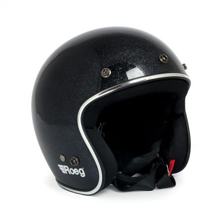 ROEG Helm Jett - Mega Flake Black mit ECE
