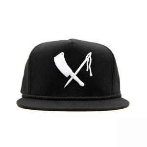 Rusty Butcher Cap - Snapback Logo Black