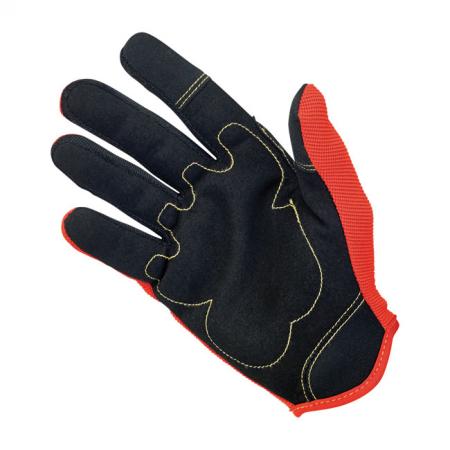 Biltwell Gloves - Moto Orange/Black/Yellow