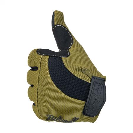 Biltwell Handschuhe - Moto Olivgrün/Schwarz
