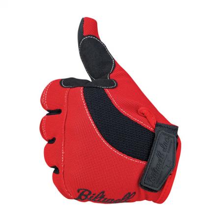Biltwell Handschuhe - Moto Rot/Schwarz/Weiss