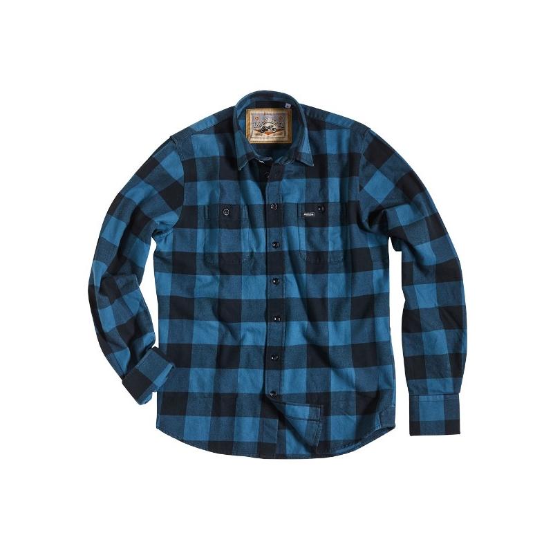 Rokker Hemd - Denver Blau